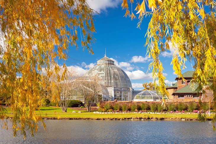 Belle Isle, Detroit with fall foliage