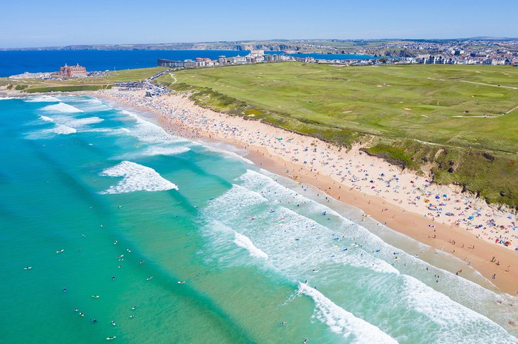 Vista aérea de la playa Fistral