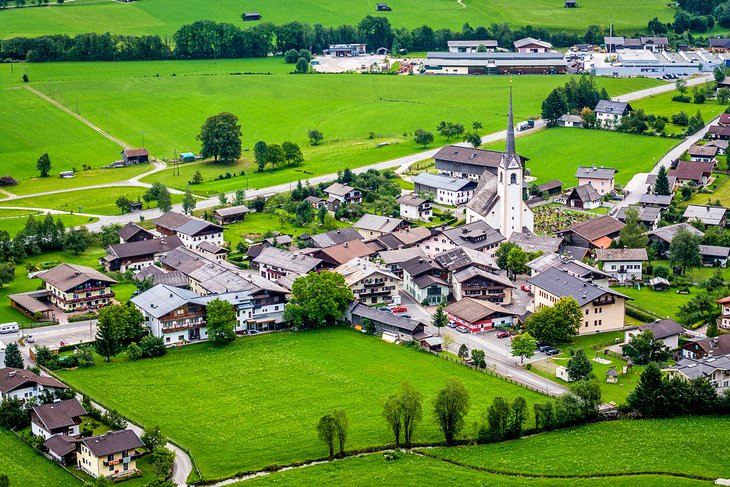 Vista aérea de Sankt Martin bei Lofer