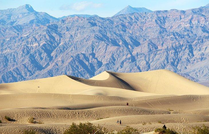 Dunas de arena en el Parque Nacional Death Valley