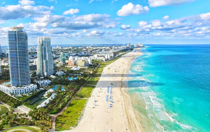 Vista aérea de South Beach, Miami