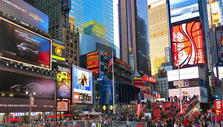 Times Square a primera hora de la tarde
