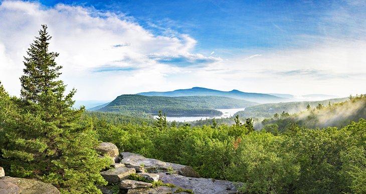 Vistas a las montañas Catskill