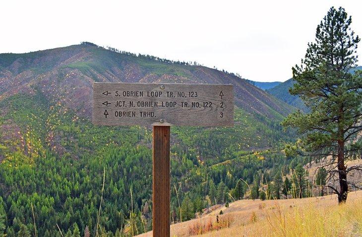 Firmar en el sendero O ?? Brien Creek