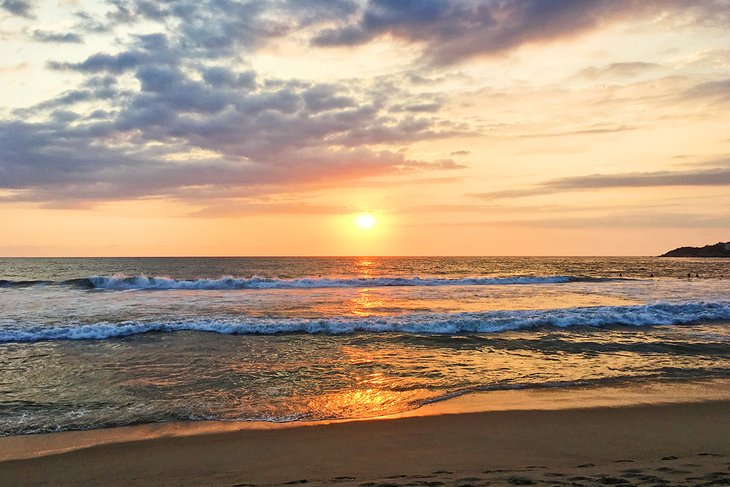 Playa Zicatela al atardecer