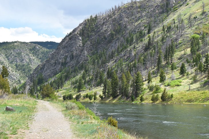 Sendero de recreación nacional Bear Trap Canyon