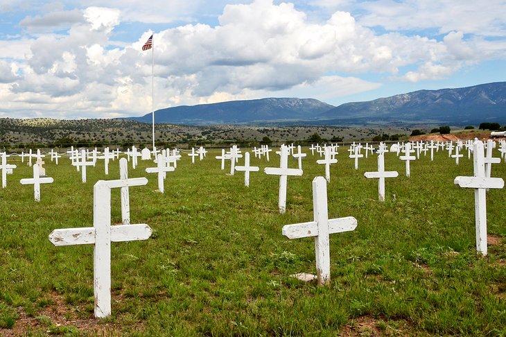 Cementerio en el sitio histórico de Fort Stanton